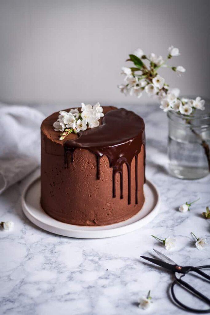 Marzipan Cake With Dark Chocolate Buttercream The Floured